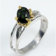 Handmade! Кольцо. Натуральный зеленый турмалин. Серебро 925. К3427