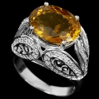 Кольцо. Натуральный кварц. Серебро 925. К4020