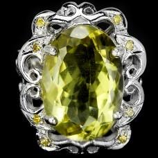 Кольцо. Натуральный кварц. Серебро 925. К4615
