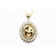 Подвес. Натуральный бриллиант. Желтое золото 10К. п5768