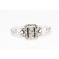 Кольцо. Натуральный бриллиант. Белое золото 14К. К5784