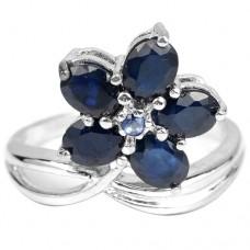 Кольцо. Натуральный сапфир. Серебро 925. К6178