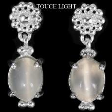 Серьги. Натуральный лунный камень. Серебро 925. С6457