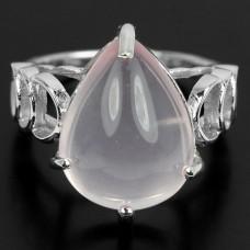 Кольцо. Натуральный розовый кварц. Серебро 925. К6953