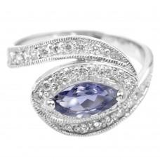 Кольцо. Натуральный иолит. Серебро 925. К7514