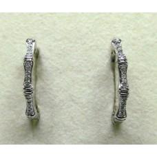 Серьги. Натуральный бриллиант. Серебро 925.