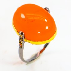 Handmade! Кольцо. Натуральный сердолик и родолит гранат. Серебро 925.