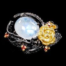 Handmade! Кольцо. Натуральный лунный камень. Серебро 925. К7836
