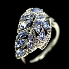 Кольцо. Натуральный танзанит. Серебро 925.