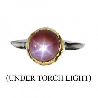 Handmade! Кольцо. Натуральный звездчатый рубин. Серебро 925.