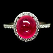 Кольцо. Натуральный рубин. Серебро 925.