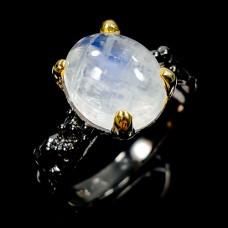 Handmade! Кольцо. Натуральный лунный камень. Серебро 925.