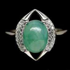 Кольцо. Натуральный грандидьерит. Серебро 925.