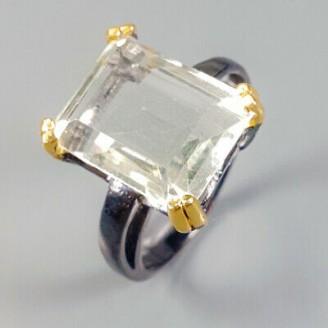 Handmade! Кольцо. Натуральный празиолит. Серебро 925.