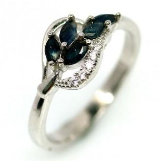 Кольцо. Натуральный сапфир. Серебро 925.