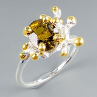 Handmade! Кольцо. Натуральный турмалин. Серебро 925.