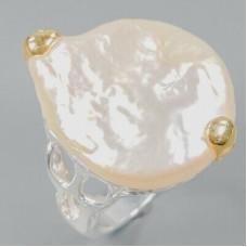 Handmade! Кольцо. Натуральный барочный жемчуг. Серебро 925.