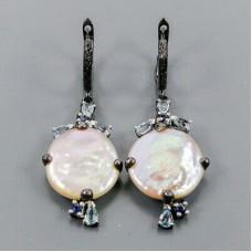 Handmade! Серьги. Натуральный барочный жемчуг. Серебро 925.