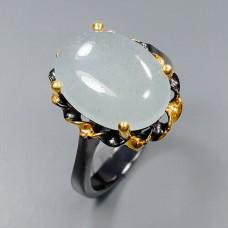 Handmade!!! Кольцо. Натуральный аквамарин. Серебро 925.К8687