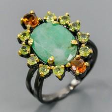 Handmade!!! Кольцо. Натуральный изумруд . Серебро 925.К8688