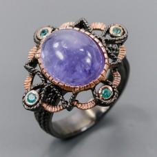 Handmade! Кольцо. Натуральный танзанит. Серебро 925. К8698