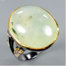 Handmade! Кольцо. Натуральный пренит. Серебро 925. К8724
