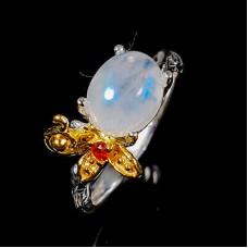 Handmade! Кольцо. Натуральный лунный камень. Серебро 925. К8729