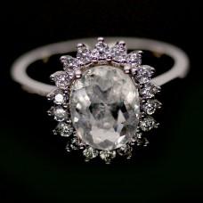 Кольцо. Натуральный морганит. Серебро 925. К8796