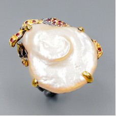 Handmade! Кольцо. Натуральный барочный жемчуг. Серебро 925. К8812